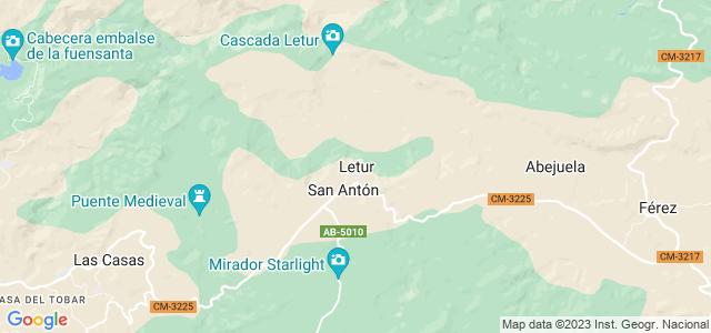 Mapa de Letur