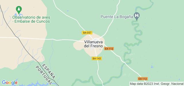 Mapa de Villanueva del Fresno