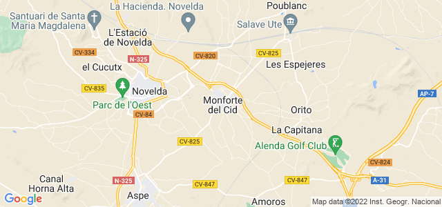Mapa de Monforte del Cid