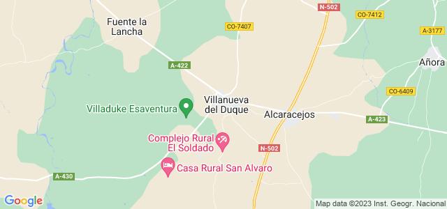 Mapa de Villanueva del Duque