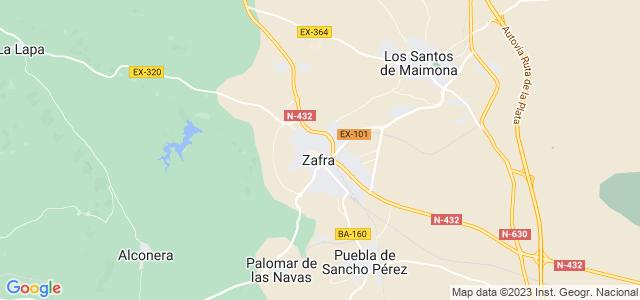 Mapa de Zafra