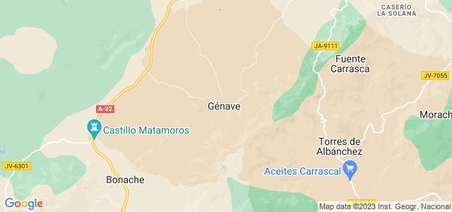 Mapa de Génave