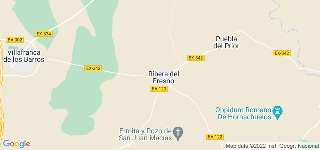 Mapa de Ribera del Fresno