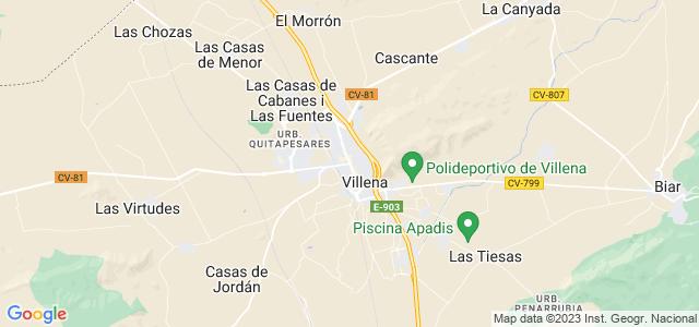 Mapa de Villena