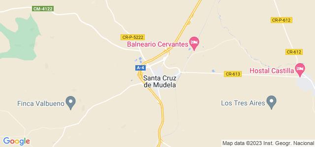 Mapa de Santa Cruz de Mudela
