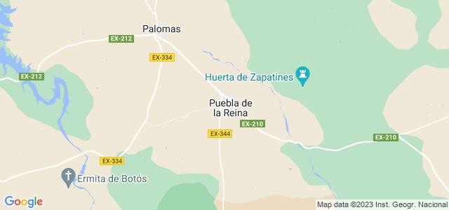 Mapa de Puebla de la Reina