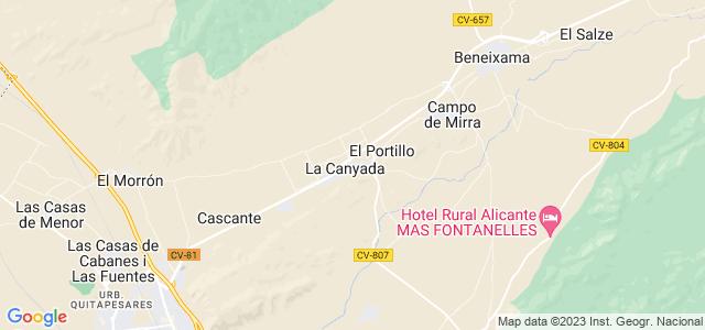 Mapa de Cañada