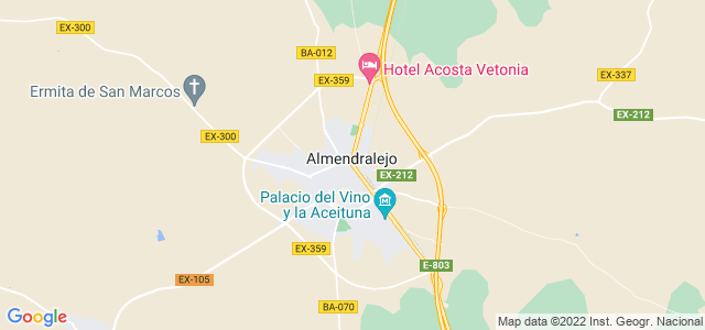 Mapa de Almendralejo