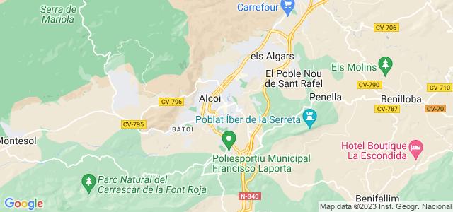 Mapa de Alcoy - Alcoi
