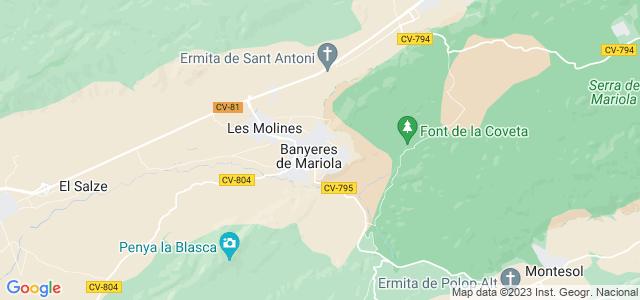 Mapa de Banyeres de Mariola