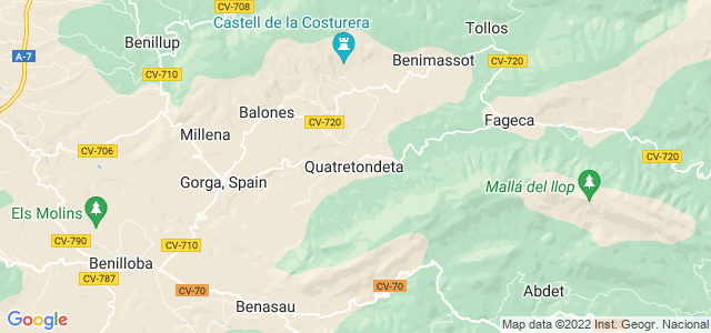 Mapa de Quatretondeta