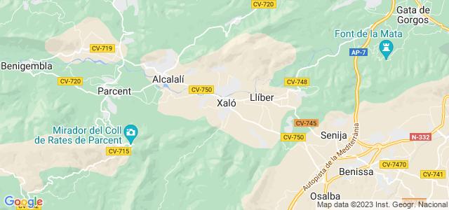 Mapa de Xaló