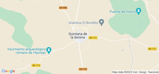 Mapa de Quintana de la Serena