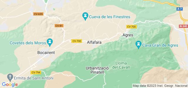 Mapa de Alfafara