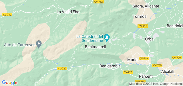 Mapa de Vall de Laguar