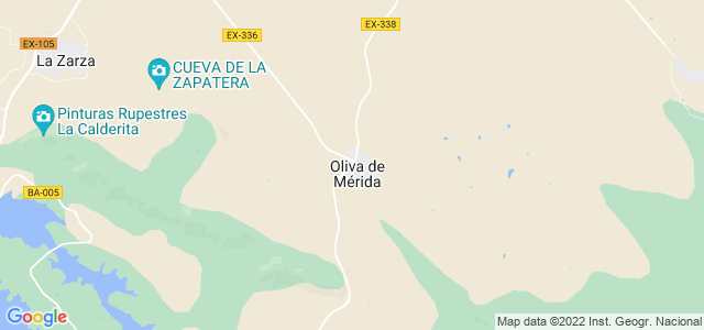 Mapa de Oliva de Mérida