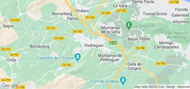 Mapa de Pedreguer