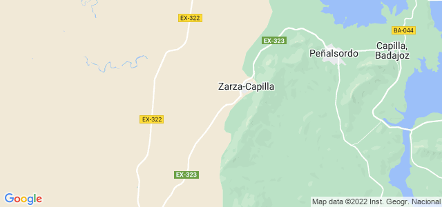Mapa de Zarza-Capilla