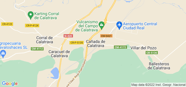 Mapa de Cañada de Calatrava