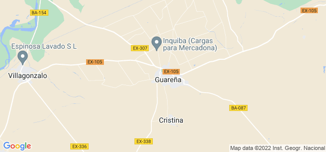 Mapa de Guareña