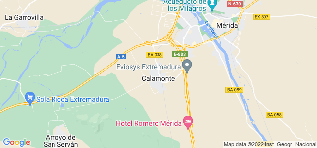 Mapa de Calamonte
