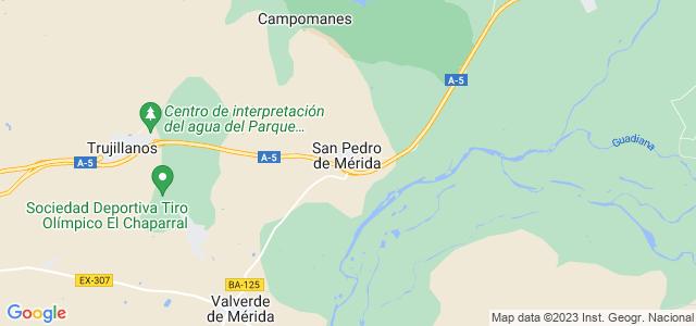 Mapa de San Pedro de Mérida