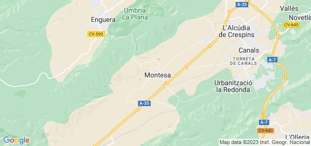 Mapa de Montesa