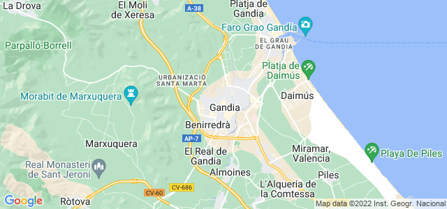 Mapa de Gandia