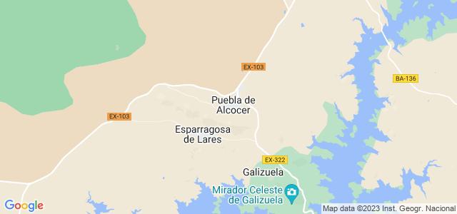 Mapa de Puebla de Alcocer