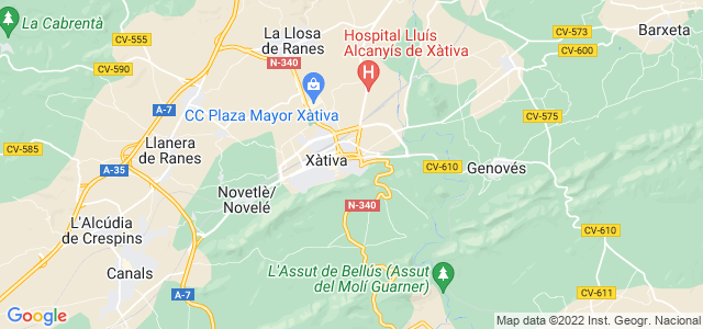 Mapa de Xàtiva