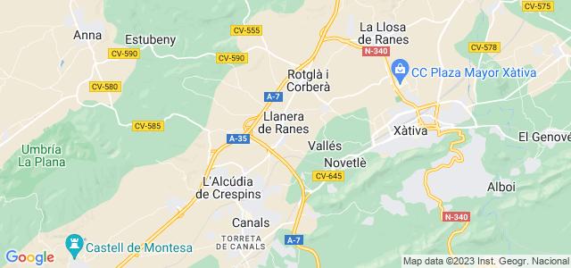 Mapa de Torrella