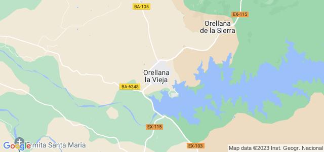 Mapa de Orellana la Vieja
