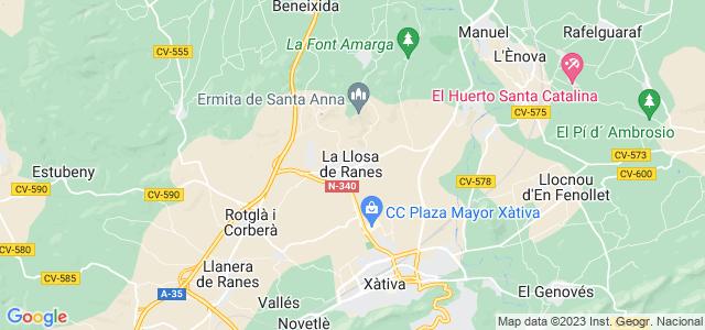 Mapa de Llosa de Ranes