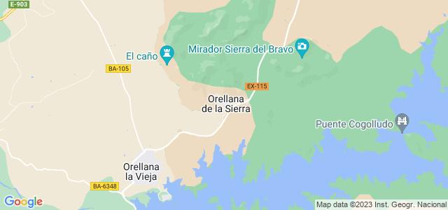 Mapa de Orellana de la Sierra