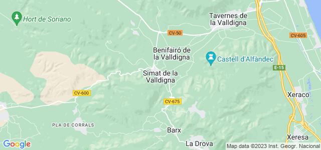 Mapa de Simat de la Valldigna