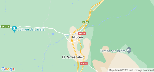 Mapa de Aljucén