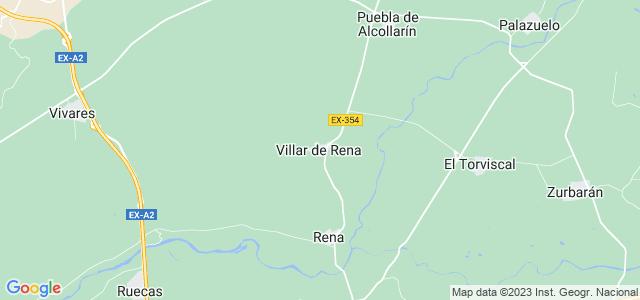 Mapa de Villar de Rena