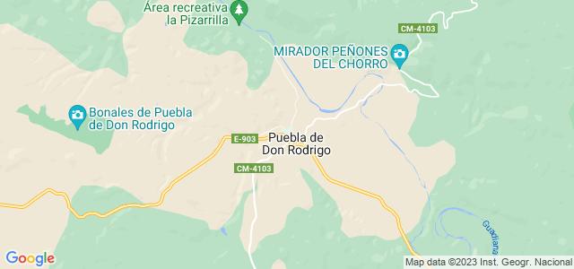 Mapa de Puebla de Don Rodrigo
