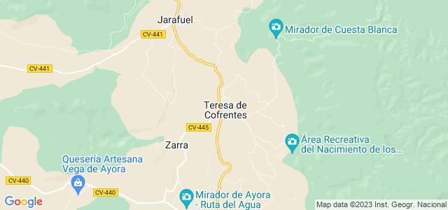 Mapa de Teresa de Cofrentes