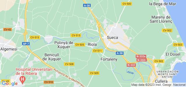 Mapa de Riola
