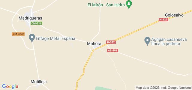 Mapa de Mahora