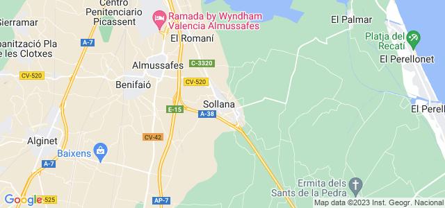Mapa de Sollana