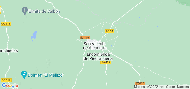 Mapa de San Vicente de Alcántara