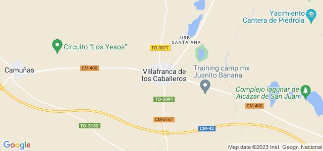 Mapa de Villafranca de los Caballeros