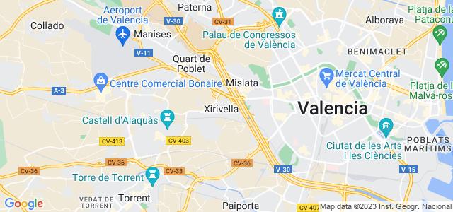 Mapa de Xirivella
