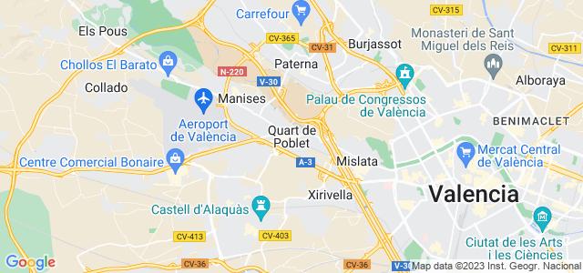 Mapa de Quart de Poblet