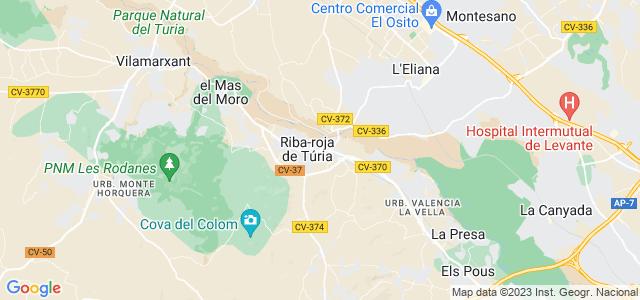 Mapa de Riba-roja de Túria