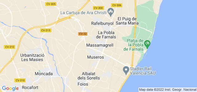 Mapa de Massamagrell