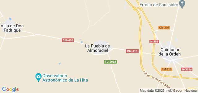 Mapa de Puebla de Almoradiel
