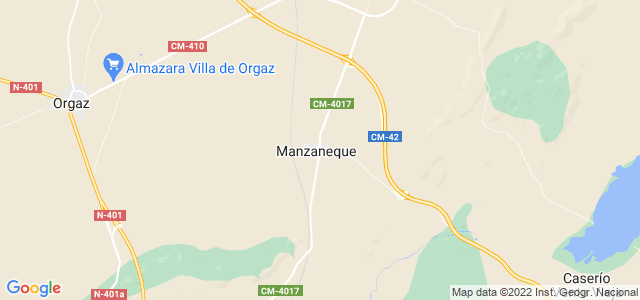 Mapa de Manzaneque